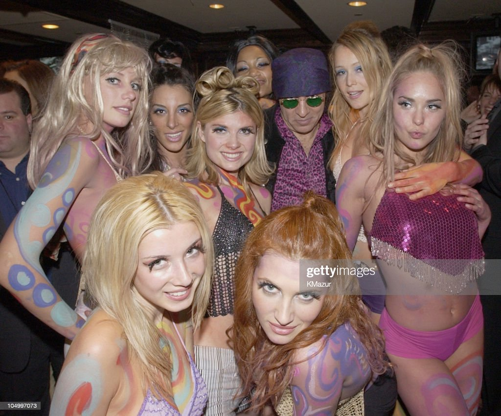 Little Steven Van Zandt with Go-Go dancers during Hard Rock Cafe Presents 'Little Steven's Underground Garage' radio show at the Hard Rock Cafe in NYC at Hard Rock Cafe NYC in New York City, New York, United States.