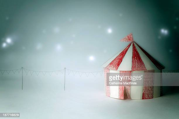 Little stripey red and white paper circus tent