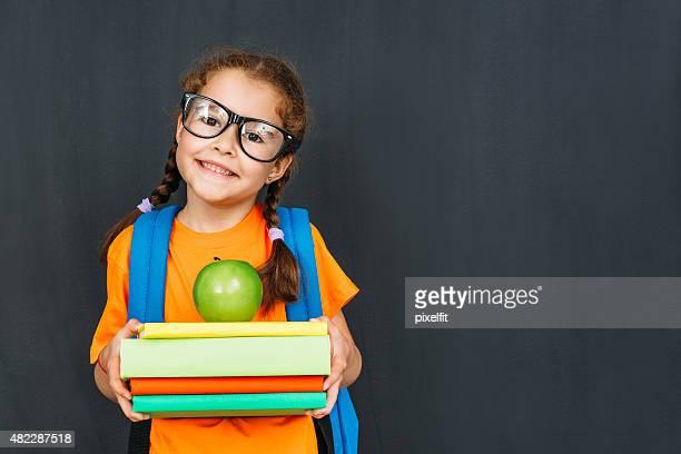 Little student girl