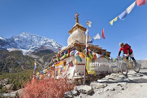 Little stupa on Annapurna Circuit, Nepal