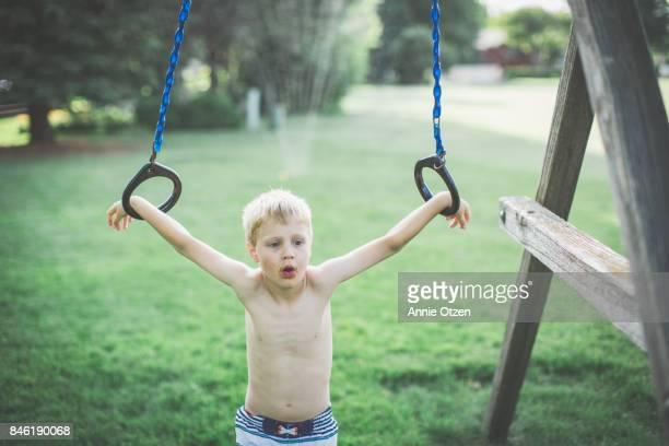 Little Summer Boy Outside