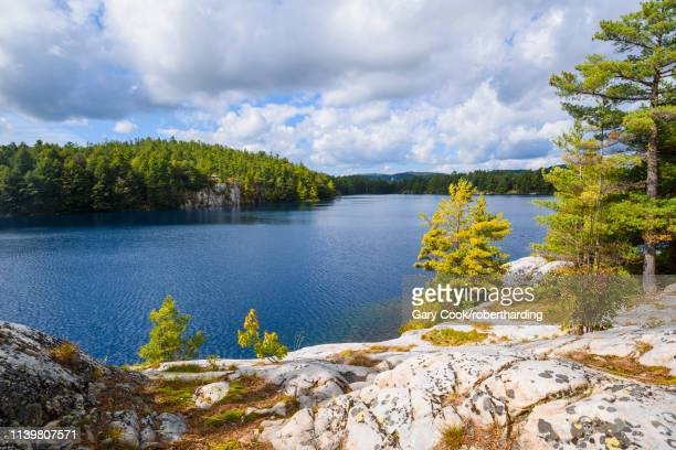 little superior lake in killarney provincial park, ontario, canada, north america - lake superior provincial park stock pictures, royalty-free photos & images