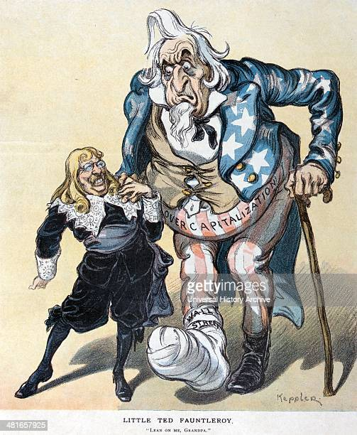 Little Ted Fauntleroy by Udo Keppler 18721956 artist published 1907 Illustration shows Theodore Roosevelt as little Lord Fauntleroy helping elderly...