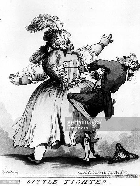 'A little tighter' KorsettKarikatur v Rowlandson 1791