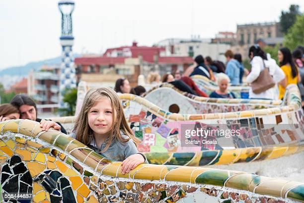 Little turist in Barcelona