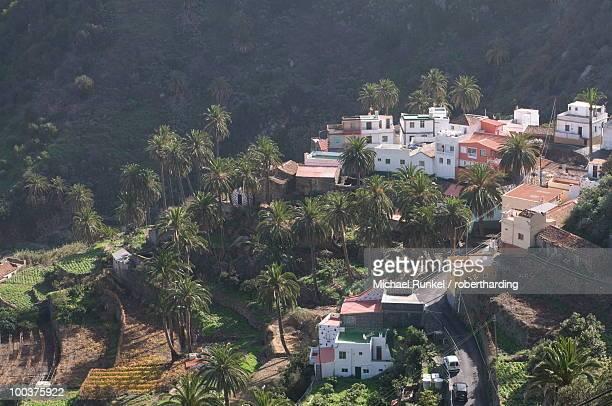 Little village in Vallehermoso, La Gomera, Canary Islands, Spain, Europe