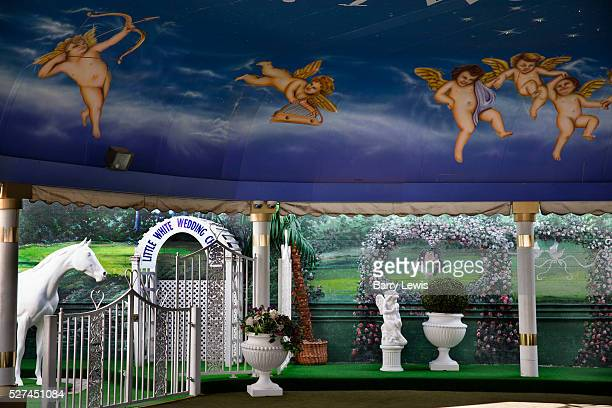 A Little White Wedding Chapel in Las Vegas Nevada USA has been the site of many quickie celebrity weddings It is noted for its DriveThru Tunnel of...