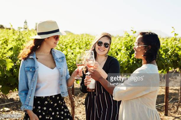 a little wine tasting with the girls - winery stock pictures, royalty-free photos & images