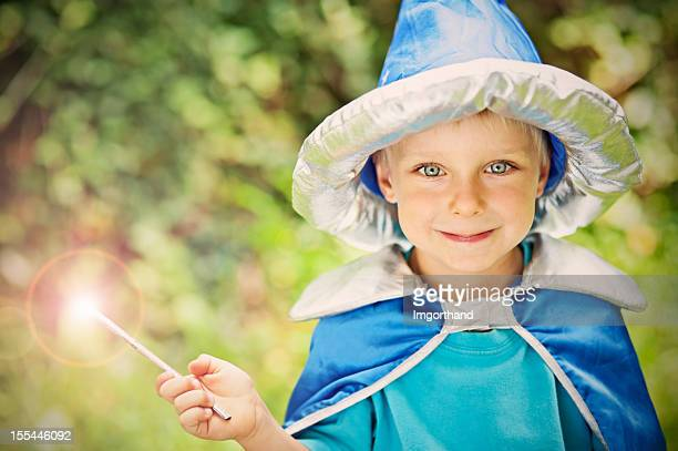Little wizard in forest