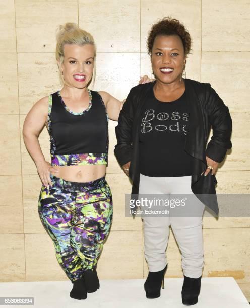 Little Women of LA's Terra Jole and designer Tonya Renee Banks pose for portrait at Tonya Renee Banks' debut of Lil Boss Body clothing line at Fathom...