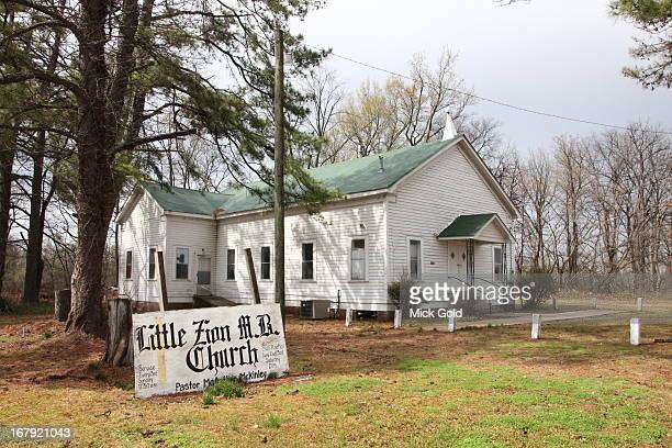 Little Zion Missionary Baptist Church Greenwood Mississippi United States photographed on 29th March 2013 The church yard contains one of the...