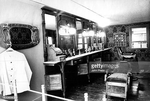 FEB 27 1981 2181982 MAR 3 1982 Littleton Colorado Historical Museum Old time Barber shop