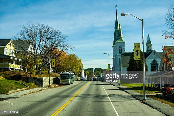 littleton, new hampshire. - nueva inglaterra estados unidos fotografías e imágenes de stock