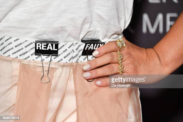 Litzy ring/fashion detail attends the 2018 Paley Honors at Cipriani Wall Street on May 15 2018 in New York City