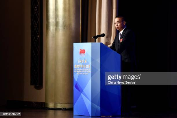 Liu Guangyuan, Commissioner of the Ministry of Foreign Affairs of People's Republic of China in the Hong Kong Special Administrative Region, speaks...