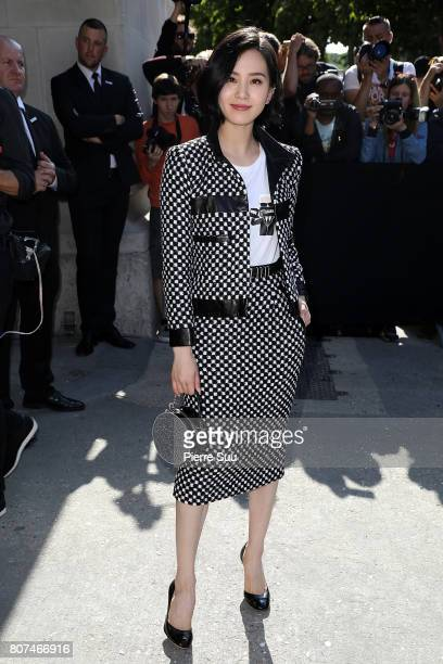 Liu Shishi arrives at the Chanel Haute Couture Fall/Winter 20172018 show as part of Haute Couture Paris Fashion Week on July 4 2017 in Paris France