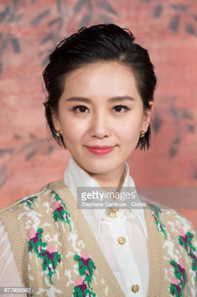 Liu Shishi attends the Chanel Cruise 2017/2018 Collection Photocall at Grand Palais on May 3 2017 in Paris France