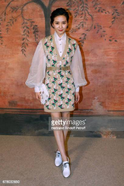 Liu Shishi attends the Chanel Cruise 2017/2018 Collection Show at Grand Palais on May 3 2017 in Paris France