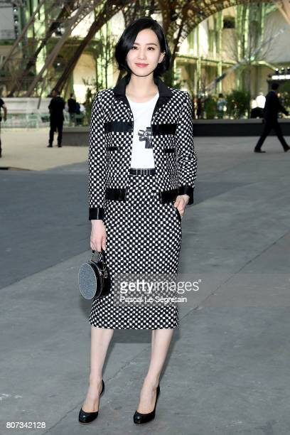 Liu Shishi attends the Chanel Haute Couture Fall/Winter 20172018 show as part of Haute Couture Paris Fashion Week on July 4 2017 in Paris France