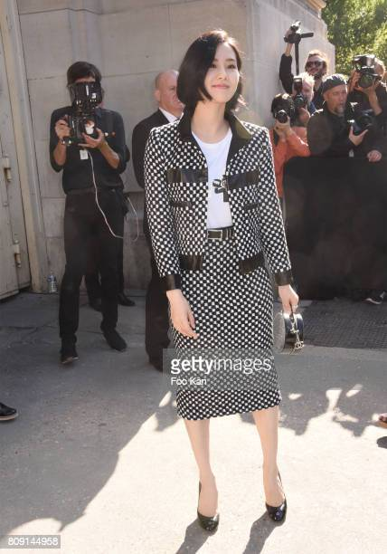 Liu Shishi attends the Chanel Haute Couture Fall/Winter 20172018 show as part of Paris Fashion Week on July 4 2017 in Paris France