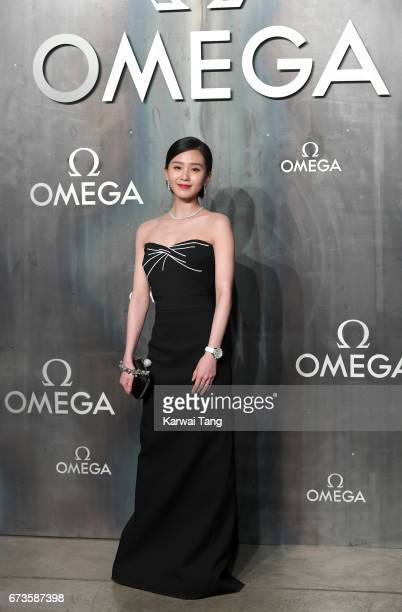 Liu Shishi attends the Lost In Space event to celebrate the 60th anniversary of the OMEGA Speedmaster at the Tate Modern on April 26 2017 in London...