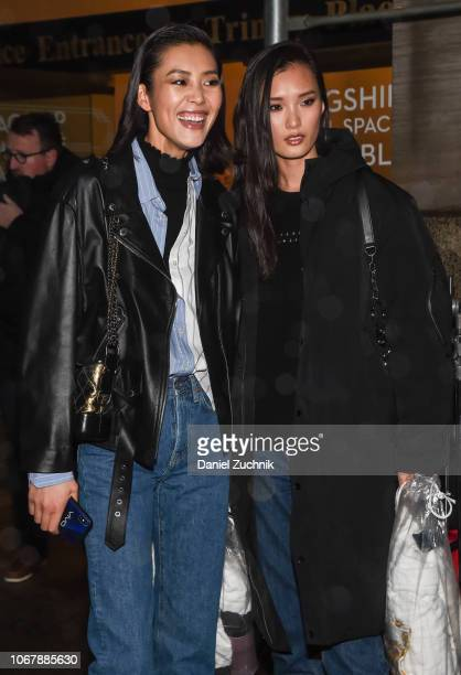 Liu Wen and Chunjie Liu are seen outside the Versace PreFall 2019 Collection on December 2 2018 in New York City
