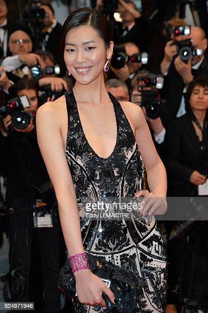 Liu Wen arrives at the Amour Premiere during the 65th Cannes Film Festival.