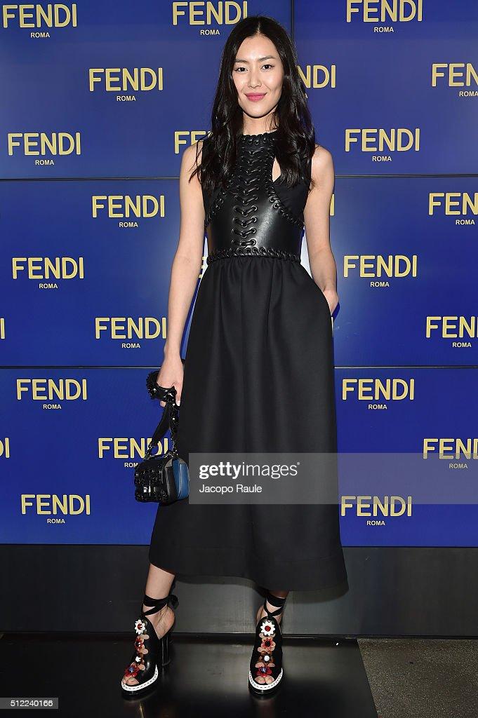 Fendi - Arrivals - Milan Fashion Week  FW16
