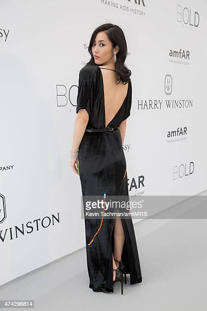 Liu Wen arrives for the amfAR 22nd Annual Cinema Against AIDS Gala at Hotel du CapEdenRoc on May 21 2015 in Cap d'Antibes France