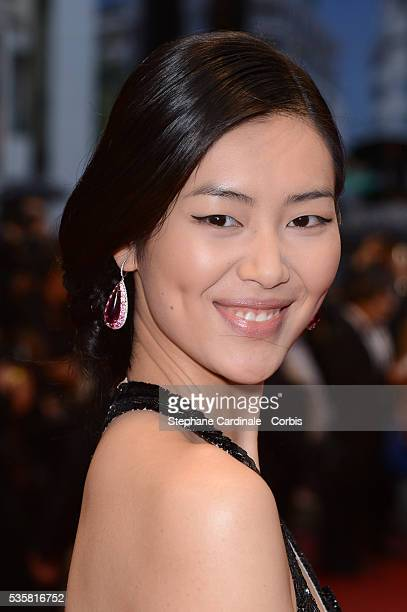 """Liu Wen at the premiere for """"Amour"""" during the 65th Cannes International Film Festival."""