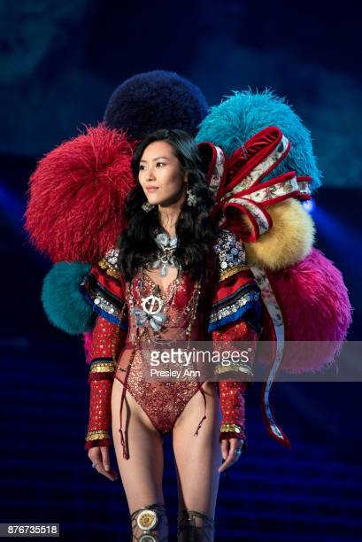 Liu Wen attends 2017 Victoria's Secret Fashion Show In Shanghai Show at MercedesBenz Arena on November 20 2017 in Shanghai China