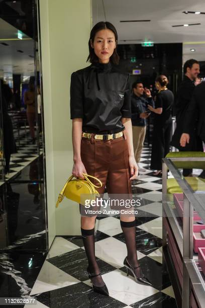 Liu Wen attends Double Exposure book signing at Prada Faubourg St Honoré on February 27 2019 in Paris France