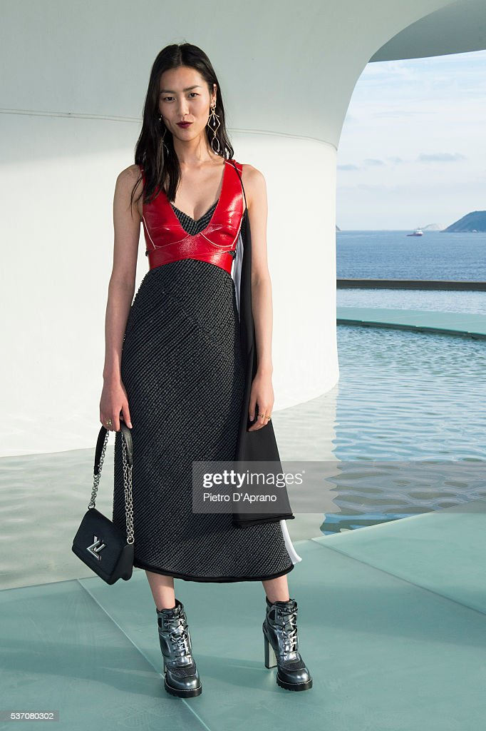 Liu Wen attends Louis Vuitton 2017 Cruise Collection at MAC Niter on May 28, 2016 in Niteroi, Brazil.