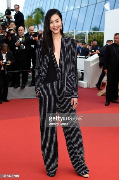 Liu Wen attends the 70th Anniversary of the 70th annual Cannes Film Festival at Palais des Festivals on May 23 2017 in Cannes France