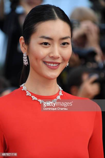 Liu Wen attends The Beguiled premiere during the 70th annual Cannes Film Festival at Palais des Festivals on May 24 2017 in Cannes France