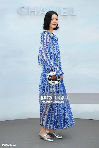 Liu Wen attends the Chanel Haute Couture Fall Winter 2018/2019 show as part of Paris Fashion Week on July 3 2018 in Paris France