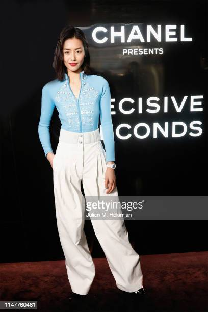 Liu Wen attends the Chanel J12 Watch Launch at Place Vendome on May 02, 2019 in Paris, France.