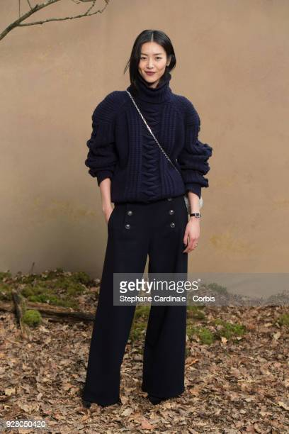 Liu Wen attends the Chanel show as part of the Paris Fashion Week Womenswear Fall/Winter 2018/2019 on March 6 2018 in Paris France