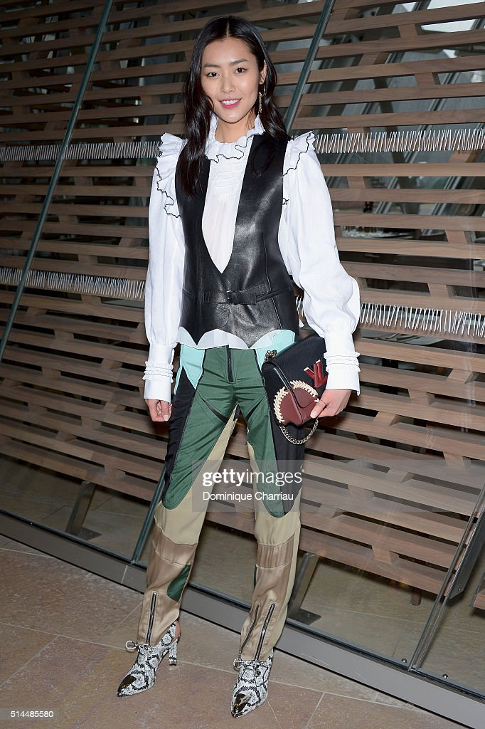 Liu Wen attends the Louis Vuitton show as part of the Paris Fashion Week Womenswear Fall/Winter 2016/2017 on March 9, 2016 in Paris, France.