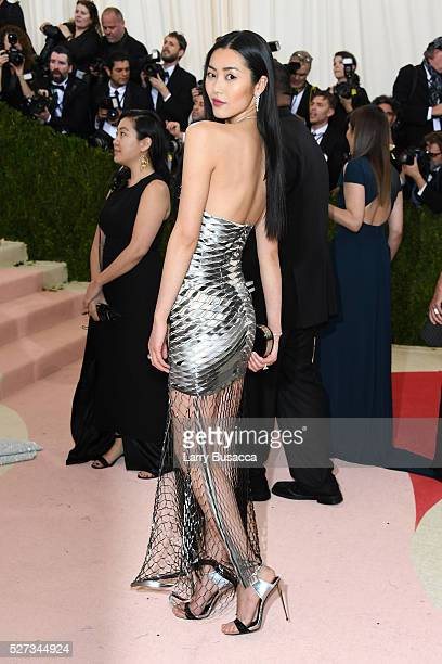 Liu Wen attends the 'Manus x Machina Fashion In An Age Of Technology' Costume Institute Gala at Metropolitan Museum of Art on May 2 2016 in New York...
