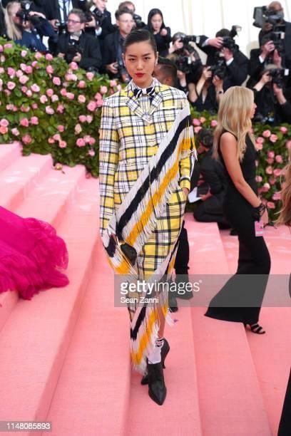 Liu Wen attends The Metropolitan Museum Of Art's 2019 Costume Institute Benefit Camp Notes On Fashion at Metropolitan Museum of Art on May 6 2019 in...