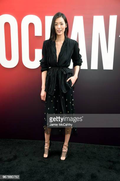 Liu Wen attends the 'Ocean's 8' World Premiere at Alice Tully Hall on June 5 2018 in New York City