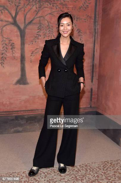 Liu Wen attends the Photocall of the 'Chanel Cruise 2017/2018 Collection' at Grand Palais on May 3 2017 in Paris France