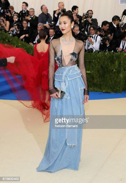Liu Wen attends the 'Rei Kawakubo/Comme des Garcons Art Of The InBetween' Costume Institute Gala at Metropolitan Museum of Art on May 1 2017 in New...