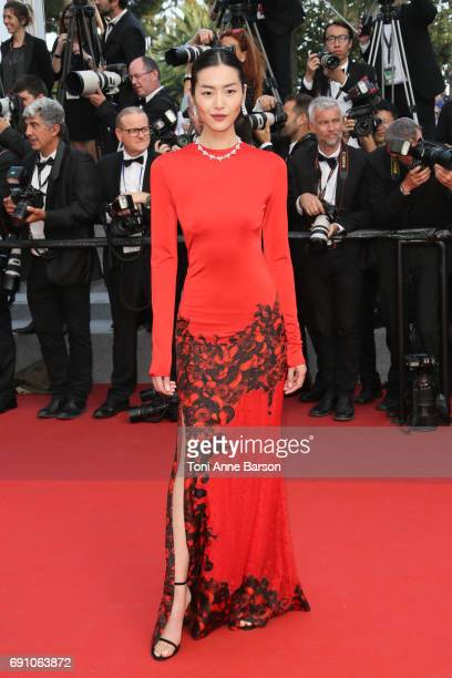 Liu Wen attends the 'The Beguiled' screening during the 70th annual Cannes Film Festival at Palais des Festivals on May 24 2017 in Cannes France