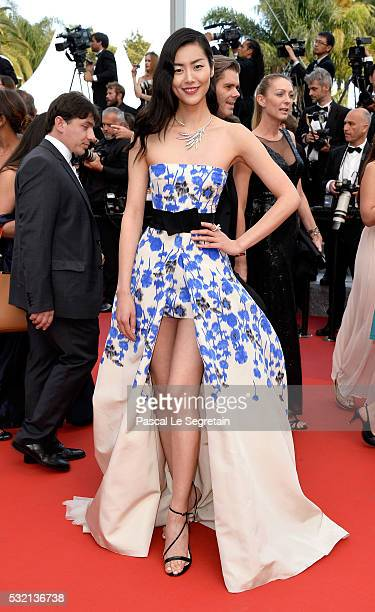 Liu Wen attends 'The Unknown Girl ' Premiere during the 69th annual Cannes Film Festival at the Palais des Festivals on May 18 2016 in Cannes France