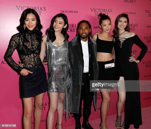 Liu Wen Ming Xi Miguel Estelle Chen Sui He at the 2017 Victoria's Secret Fashion show afterparty on November 20 2017 in Shanghai China