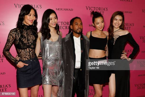 Liu Wen Ming Xi Miguel Xiao Wen and Sui He the 2017 Victoria's Secret Fashion Show After Party on November 20 2017 in Shanghai China