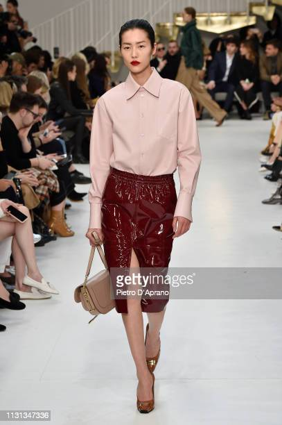 Liu Wen walks the runway at the Tod's show at Milan Fashion Week Autumn/Winter 2019/20 on February 22, 2019 in Milan, Italy.