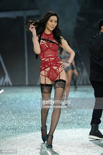 Liu Wen walks the runway during the 2016 Victoria's Secret Fashion Show on November 30 2016 in Paris France